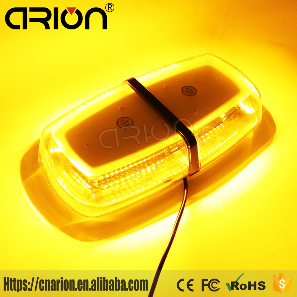 72 LED 5730 SMD Car Roof Flashing Warning Mini Strobe Light Bar DC 12V 24V Truck Police Fireman Emergency LED Light Bar Amber