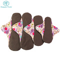 Happyflute bamboo charcoal washable cloth menstrual pads large reusable sanitary napkin