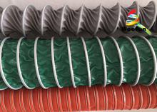 PVC Insulated High Temperature Flexible Duct , 8 Inch HVAC Flex Duct