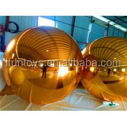 gold mirror ball inflatable hanging decorations big mirror ball gold inflatable gold mirror show ball