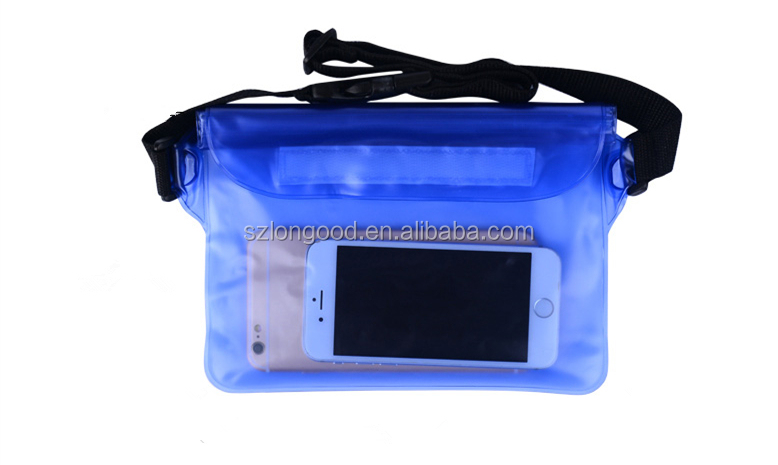 Hot Sale Customized Waterproof waist bag cell phone case/Waterproof bag for mobile phone