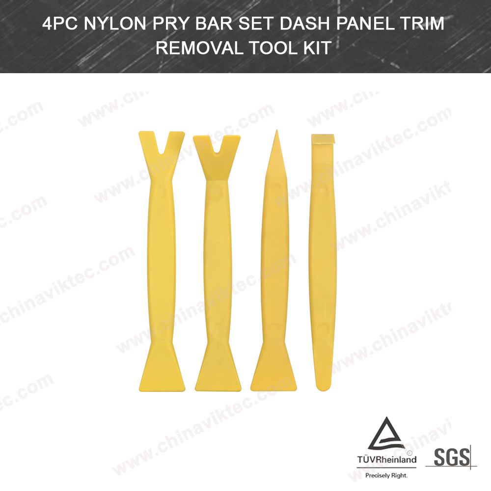 4pc Nylon Pry Bar Set Dash Panel Trim Removal Tool(VT01291)