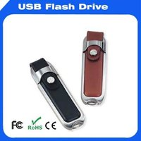 OEM Leather USB Flash drive 1GB-128GB promotional gift high quality with wholesale price