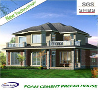 luxury cheap and quick assembled beautiful house model green house with SGS testing