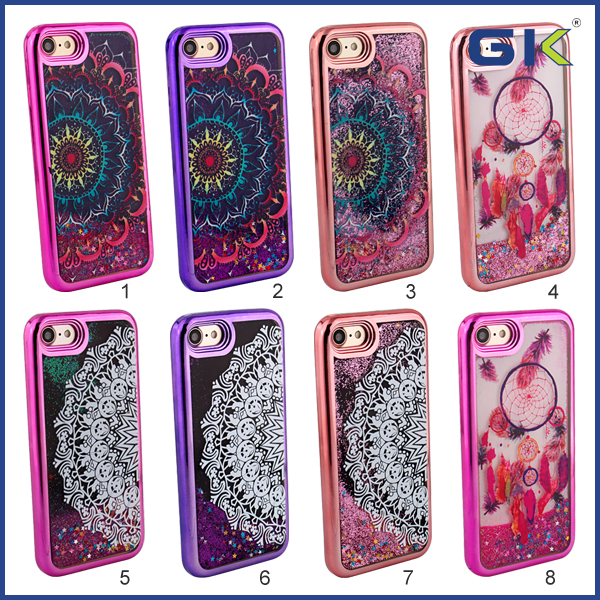 [GGIT] Electroplating With National Pattern Design TPU Phone Cover For IPhone 7 Liquid Case