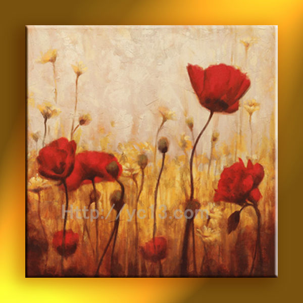 modern landscape impression abstract flower oil painting