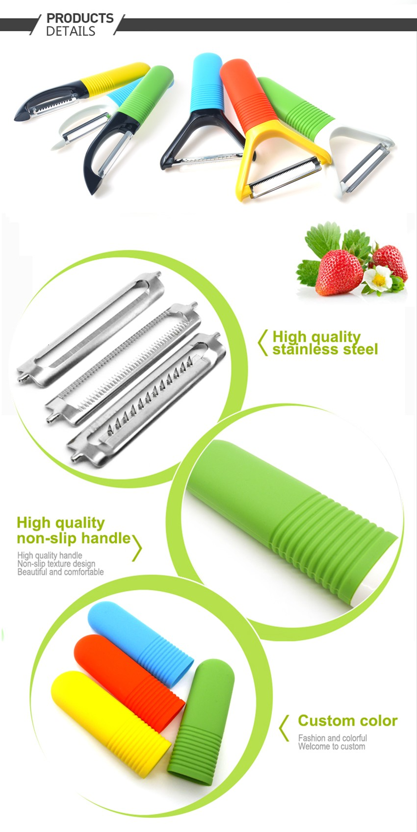 New design potato peeler with silicone handle