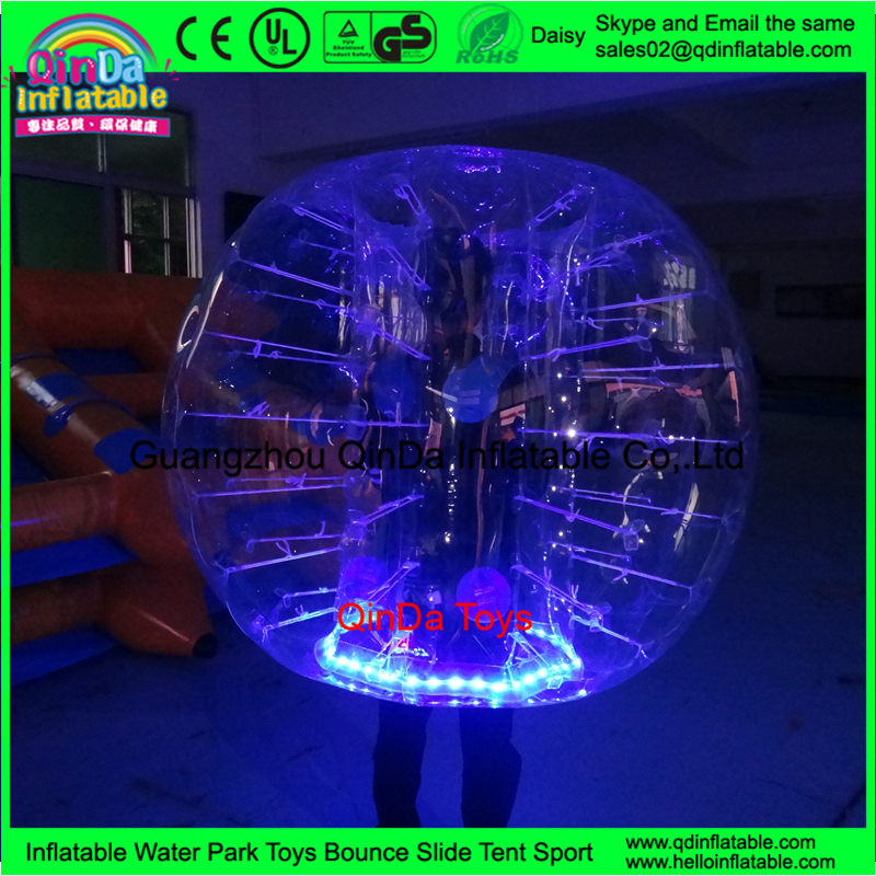 2016 Newest Inflatable Football LED Light Bumper Ball Bubble Soccer Ball