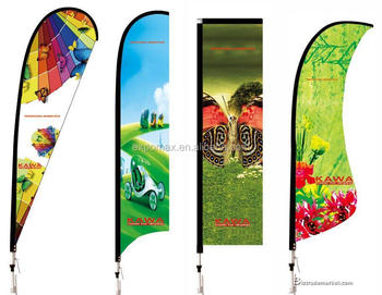 china wholesale outdoor advertising flying banner / feather beach flag pole / flag banner with low price