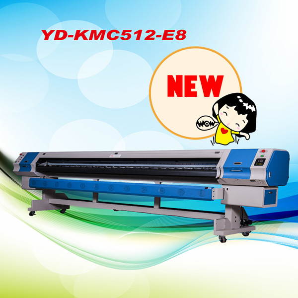 multicolor CYKM ink outdoor solvent large format printer
