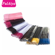 50 pcs/pack one-off disposable eyelash brush mascara applicator wand brush eyelash comb brushes cosmetic makeup tool