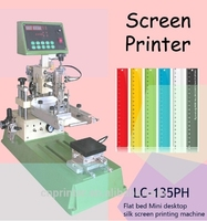 high quality automatic Mini Screen Printing Machine for ruler t-shirt toy card LC-PH135