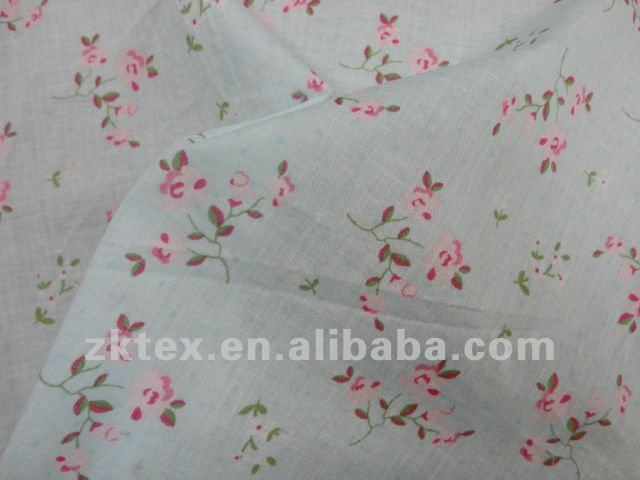 100% cotton voile heart printed fabric