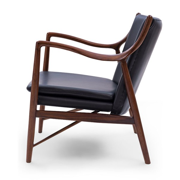 Antique style uk tan wood leather chair famous replica 45 for Stylish famous chair
