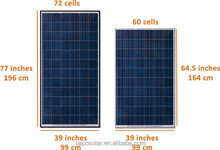 high transform efficiency flexible 400w solar pv panel in China