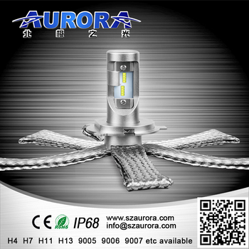 Aurora factory price led bulbs 8000lm H4 H7 9004 9006 9007 car headlight bulb