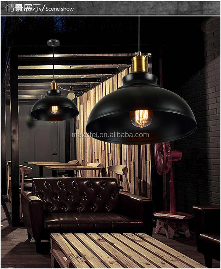 Mid-cetury style iron hanging light bulbs for kitchen/dining room