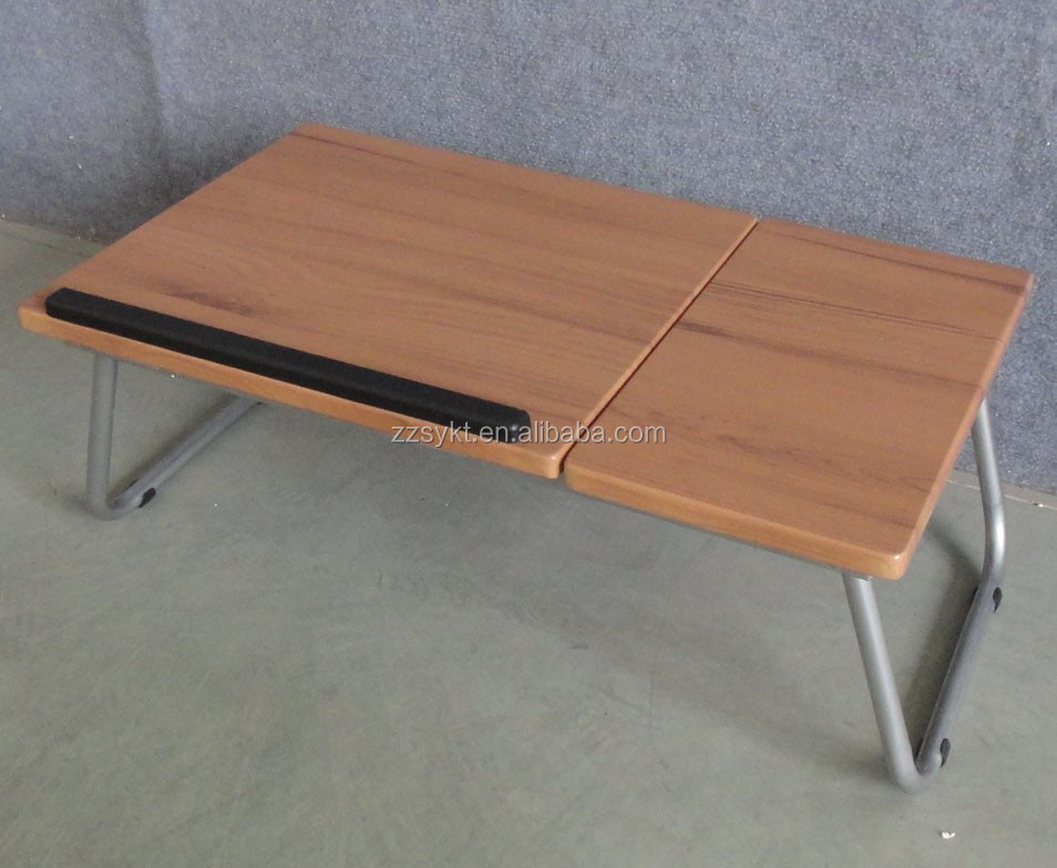 Adjustable height wooden metal folding computer desk laptop tables lap desks wholesale