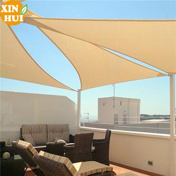 plastic 100% Virgin New HDPE high quality triangle sun shade sail