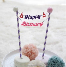 Happy Birthday Cake Topper Flag Garland Banner Bunting Wholesale