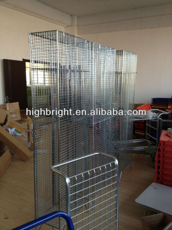 2 tiers wire mesh frame locker shelf