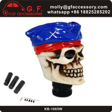Blue Hat Skull Universal Manual Car Truck Gear Shift Knob Shifter Lever Cover