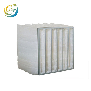 Medium nonwoven pocket filter for air conditioning system
