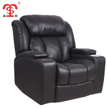 Modern commercial leather electronic recliner single sofa