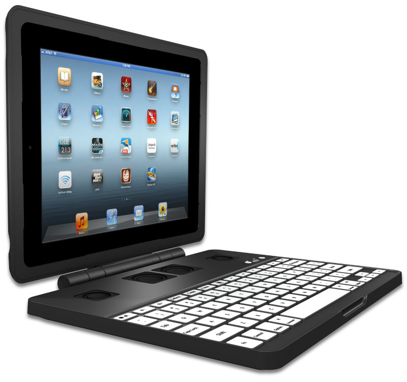 Amazing Keyboard Case for iPad + 5000 mAh Battery, 2.1 Stereo System, Many Stands, Many Mounts and more