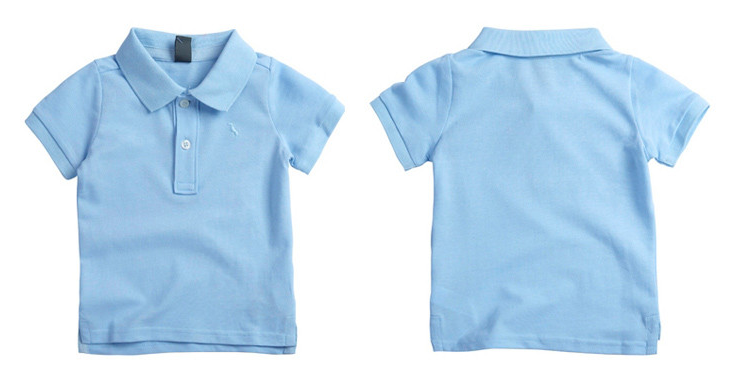 kids solid polo shirts