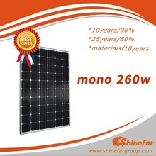 export solar panel/260w high quality solar panel mono Solar Module price for home use