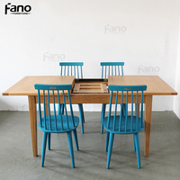solid oak furniture 6 seater solid oak extending dining table high quality oak extendable wooden dining table