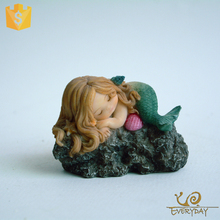 Resin Craft Ornament Gift Small Animal Resin Figures Statue Mermaid Figurine
