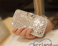 New Luxury Bling Bowknot Crystal Diamond Wallet Flip Case Cover For iPhone 4 5S 6 & Samsung