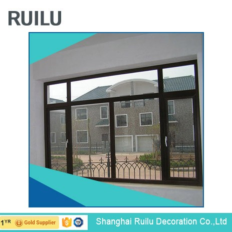 Air vents aluminum profile casement window with crank for balcony