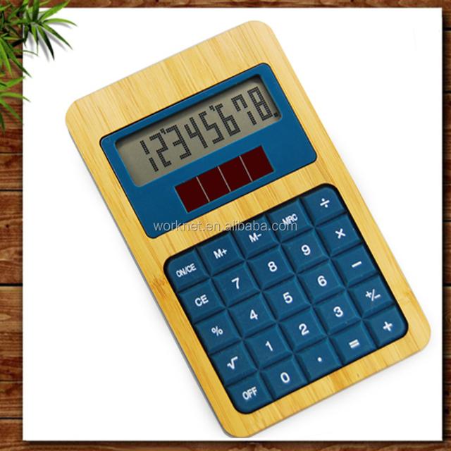 Shenzhen Worknet 8 digital bamboo desktop calculator, bamboo calculator, 8 digits solar power bamboo wooden calculator