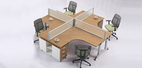 Latest office furniture design staff tables, clerk desks, work office workstation