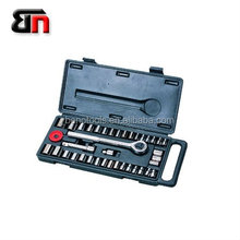 Cheapest tool set 40 piece tool set of mechanical workshop ,socket wrench set of motorcycle for reparing