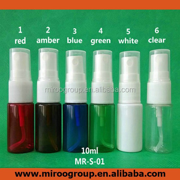 10ml empty blue spray misters, travel refillable bottle for essential oils, organic beauty products