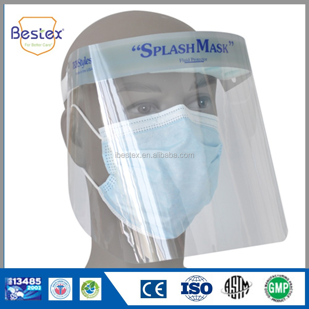 BESTEX disposable splash mask clear face shield