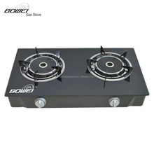 Super quality new-style double burners glass gas stove for cooking