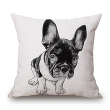 Digital printed home decoration pieces dog meditation seat cushion cover furniture sofa cushion cover