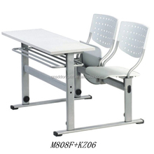 Popular New Student Double Desk And Chair Plastic School Furniture For Sale M808F+KZ06