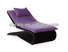 2013 new leisure purple sofa bed furniture in chrome and fabric to be finished for living room