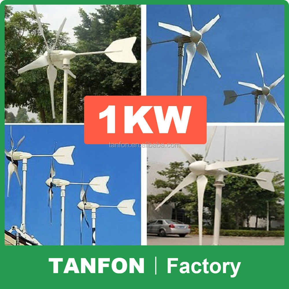 Widely use home use vertical wind power turbine generator / solar wind hybrid system 1kw