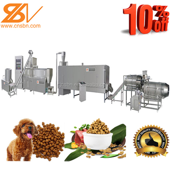 Stainless steel Full-auto pet dog cat fish shrimp animal food line