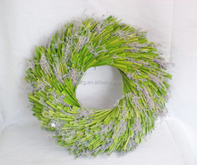 "Wholesale 20"" Dried Green easter straw wreath"