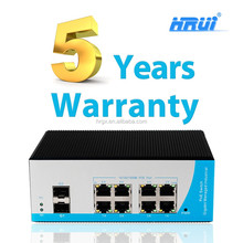 HRUI ip camera network 8+2g combo port 8 port 10 port managed industrial poe switch