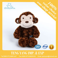 China supplier lovely monkey design 100% PP cotton plush stuffed toys