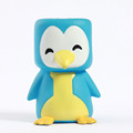 Penguin animal shaped coin can for child/making custom money saving box/ PVC tin can piggy bank from factory